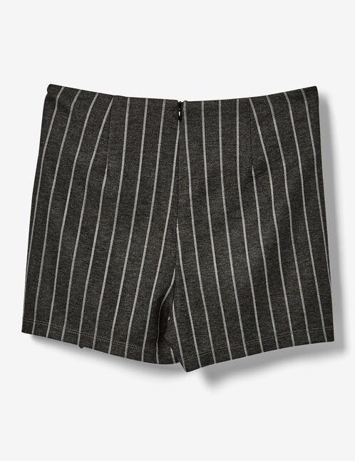 jupe short à nouer grise et blanche