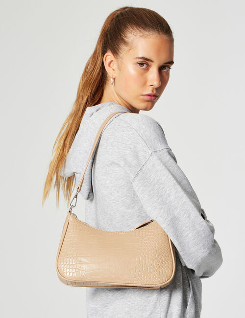Imitation snakeskin bag