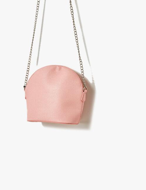 sac bandoulière rose clair
