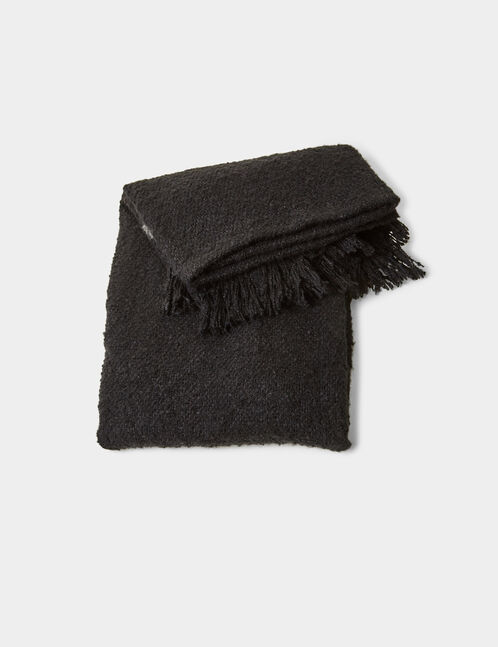 Black textured scarf