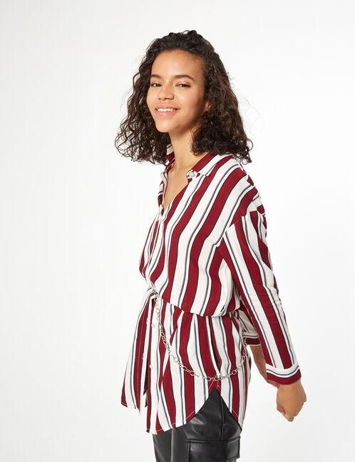 chemise longue fendue