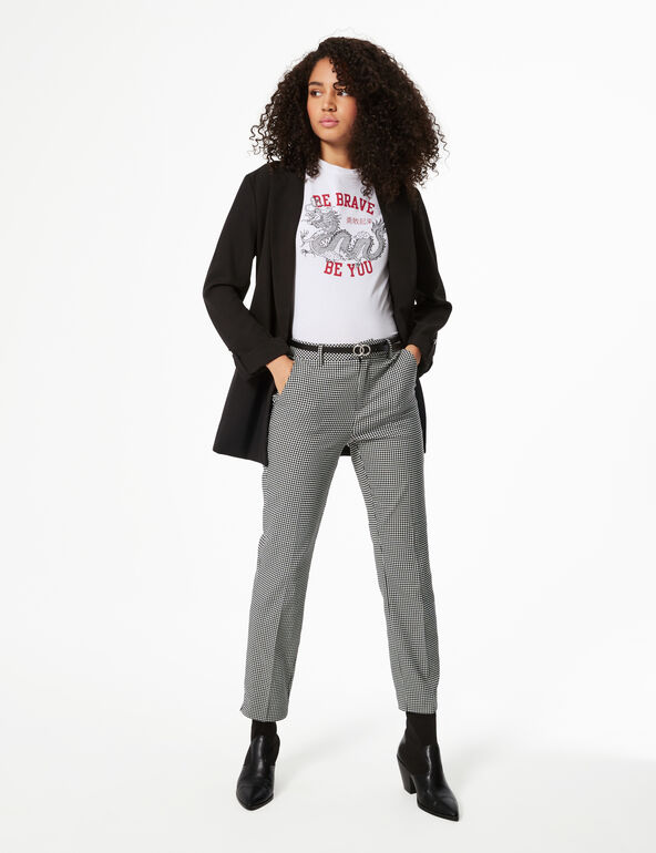 Gingham tailored trousers