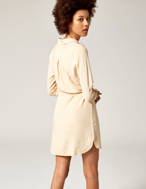 Beige shirt dress