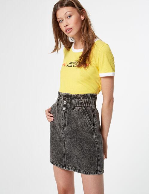 jupe en jean élastiquée