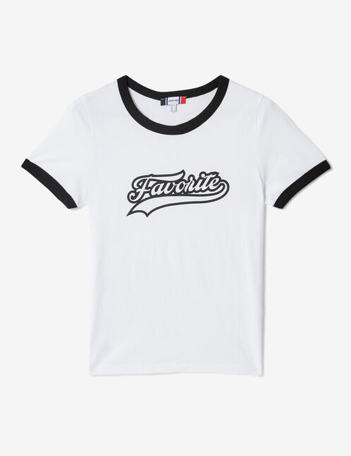"White ""favorite"" T-shirt"
