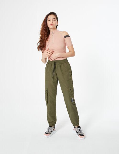 Tee-shirt col montant zippé