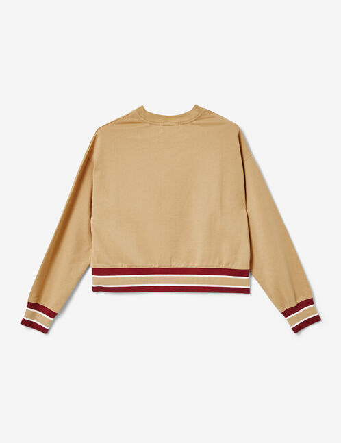 sweat too cool for you beige et bordeaux