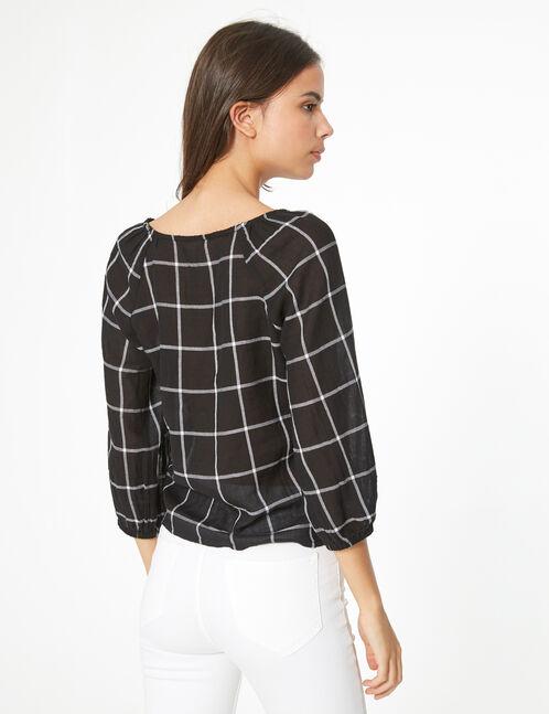 blouse à carreaux