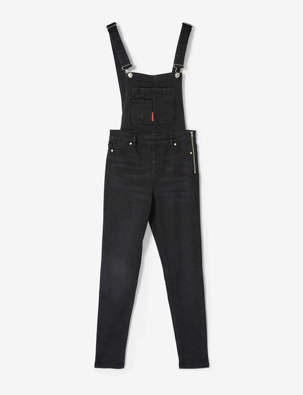 Salopette en jean noire