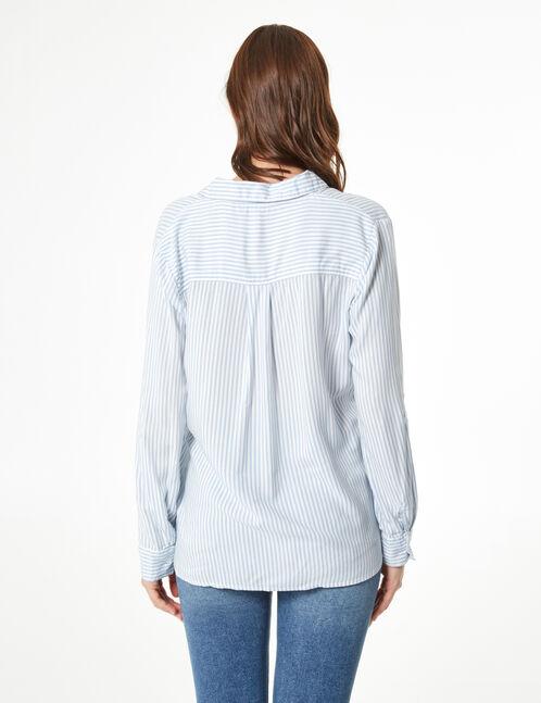 chemise rayée avec laçages