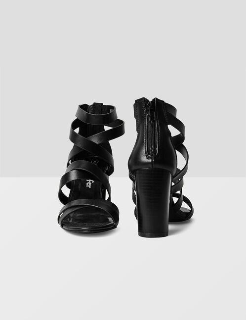 sandales avec liens noir