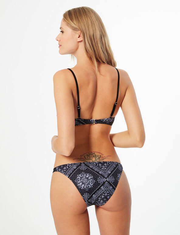 Printed bikini briefs with laces