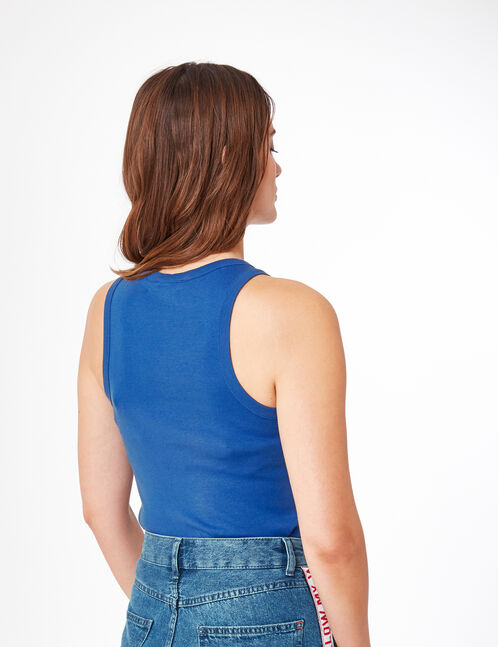 Basic blue tank top