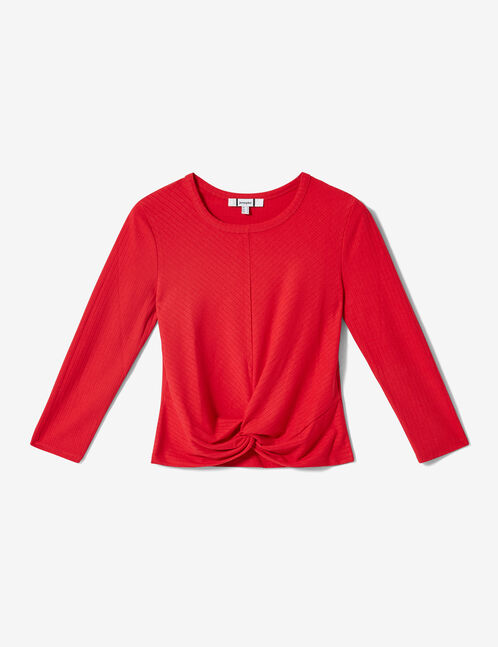 Red knot-effect top