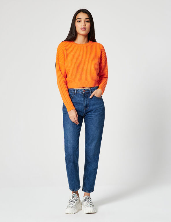Oversized cropped jumper