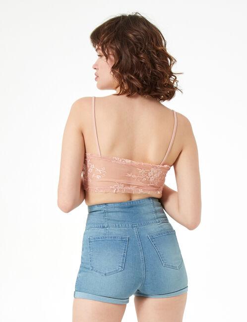 short taille haute en jean