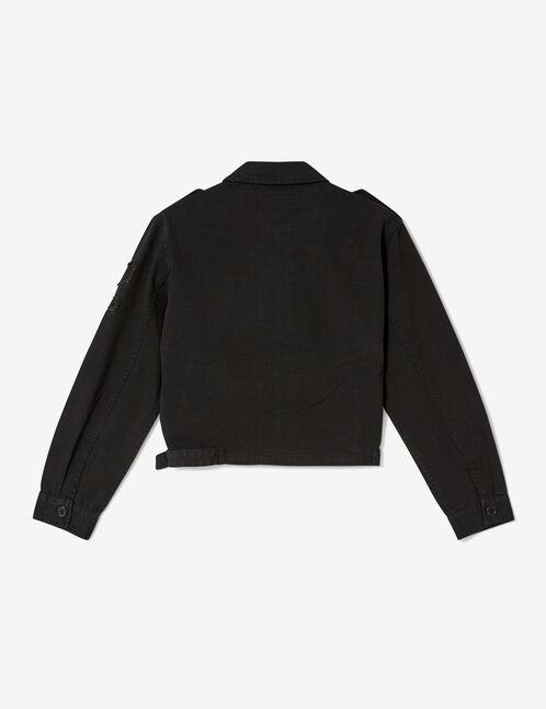 veste courte esprit army noire