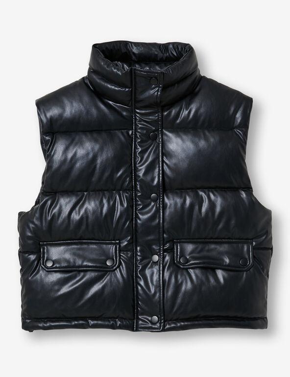 Imitation-leather bodywarmer