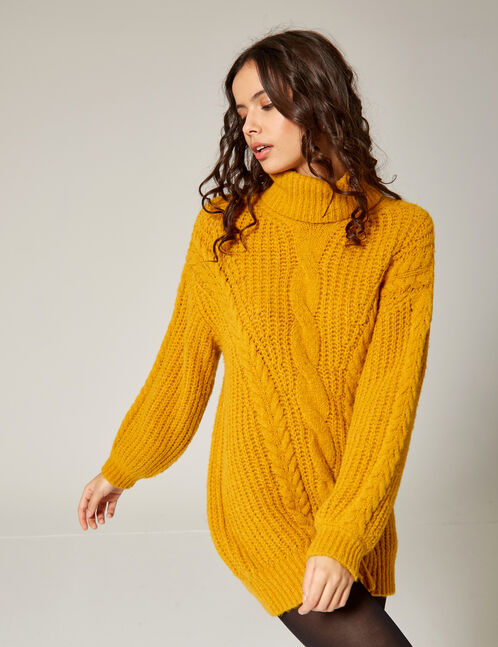 pull doux oversize ocre