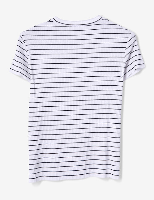 White and black striped T-shirt
