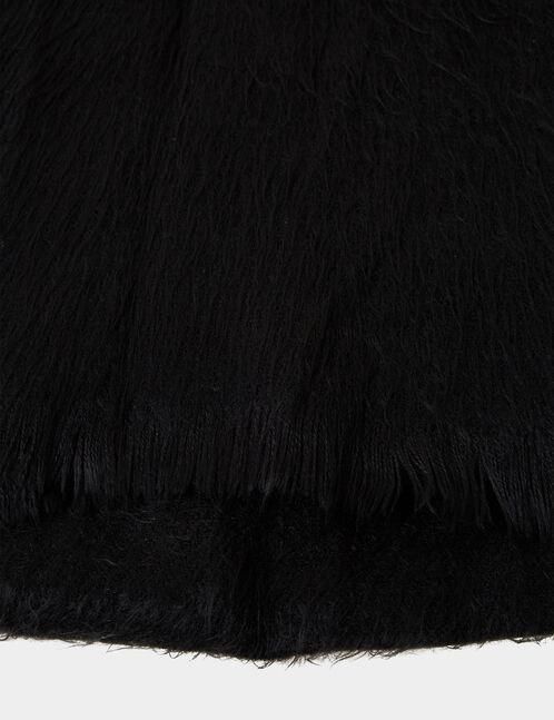 Black cashmere-feel scarf