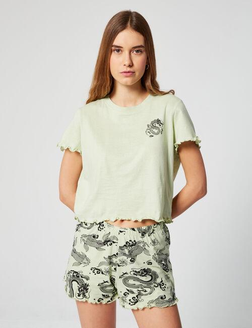Pyjama set with motifs