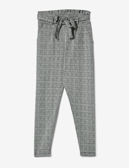 pantalon avec ceinture noir et blanc