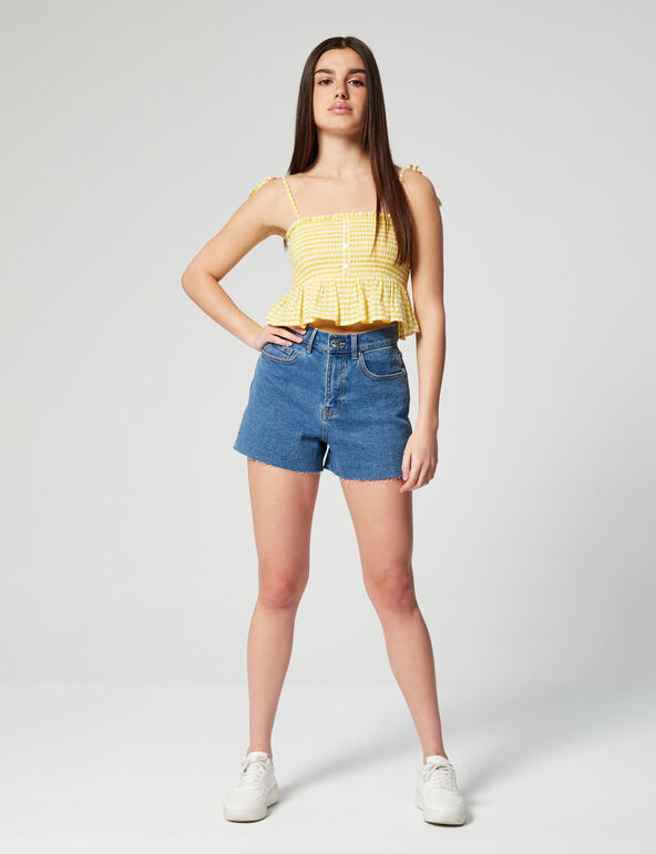 Short en jean slim mom
