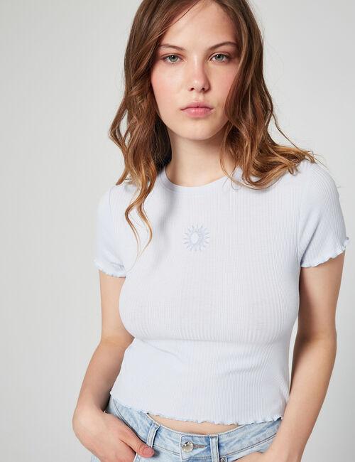 tee-shirt soleil côtelé