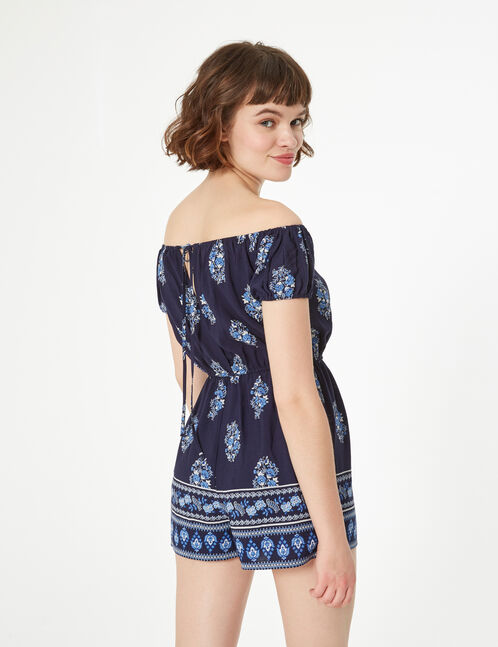 Playsuit with open shoulders