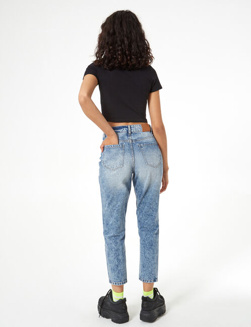 Faded mom jeans