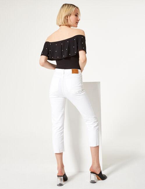 jean straight droit blanc
