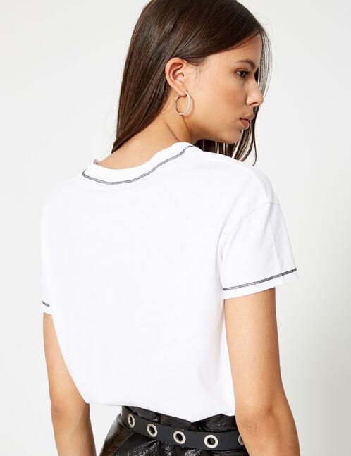 tee-shirt cerises blanc