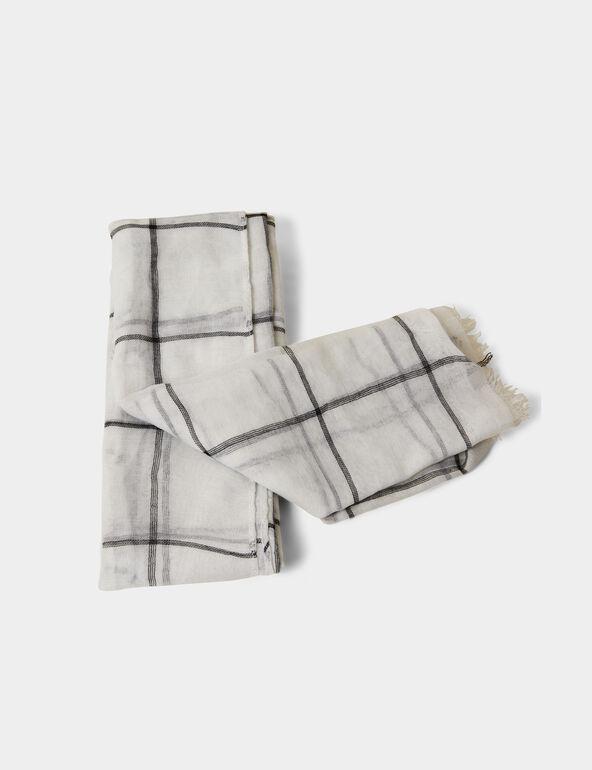 Foulard à carreaux gris et noir