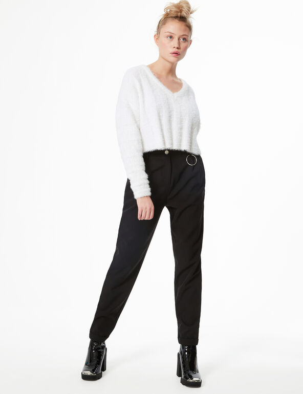 Tailored trousers with buckle detail