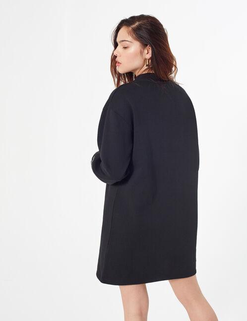 Sweatshirt dress with patch