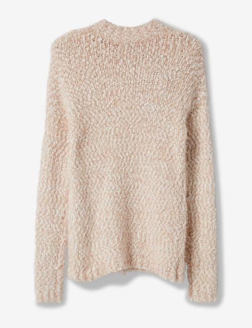 Light pink mohair jumper with lurex detail