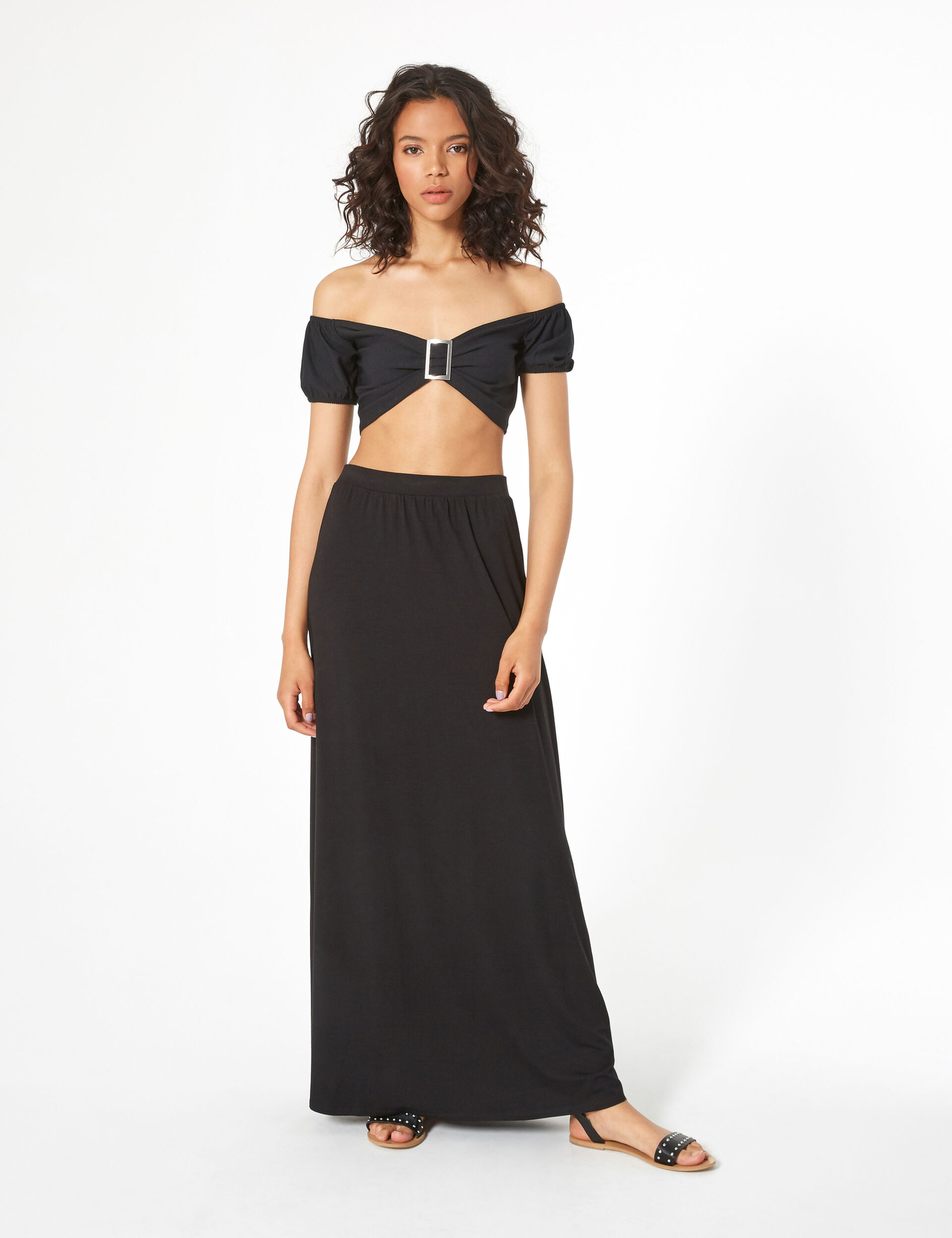 Crop top with ring detail