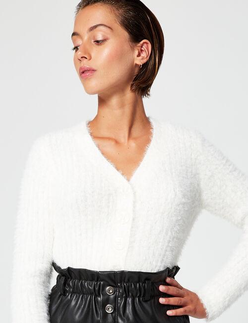 Imitation leather mini skirt