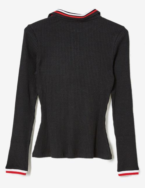 tee-shirt esprit polo noir