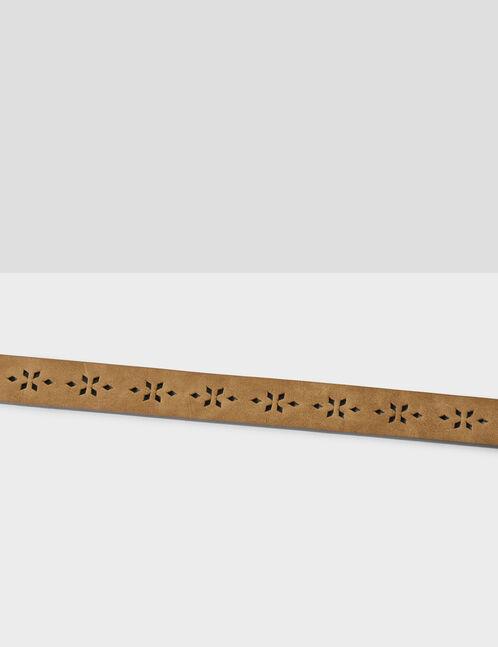 Camel perforated belt