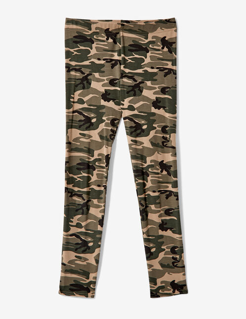 Khaki camouflage leggings