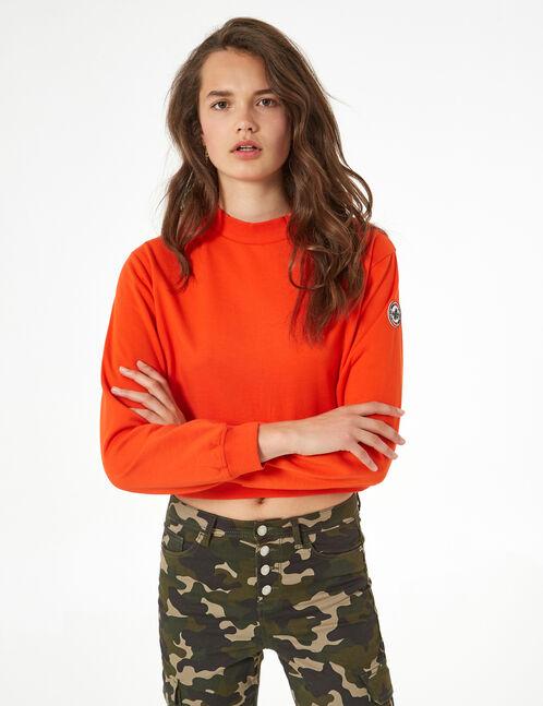 basic high collar sweatshirt