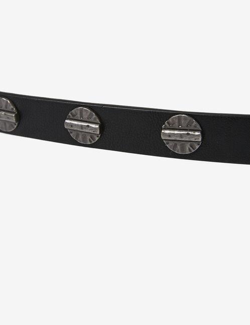 Black belt with metal detail