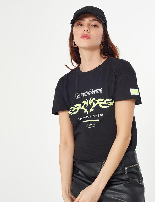 Flame print t-shirt