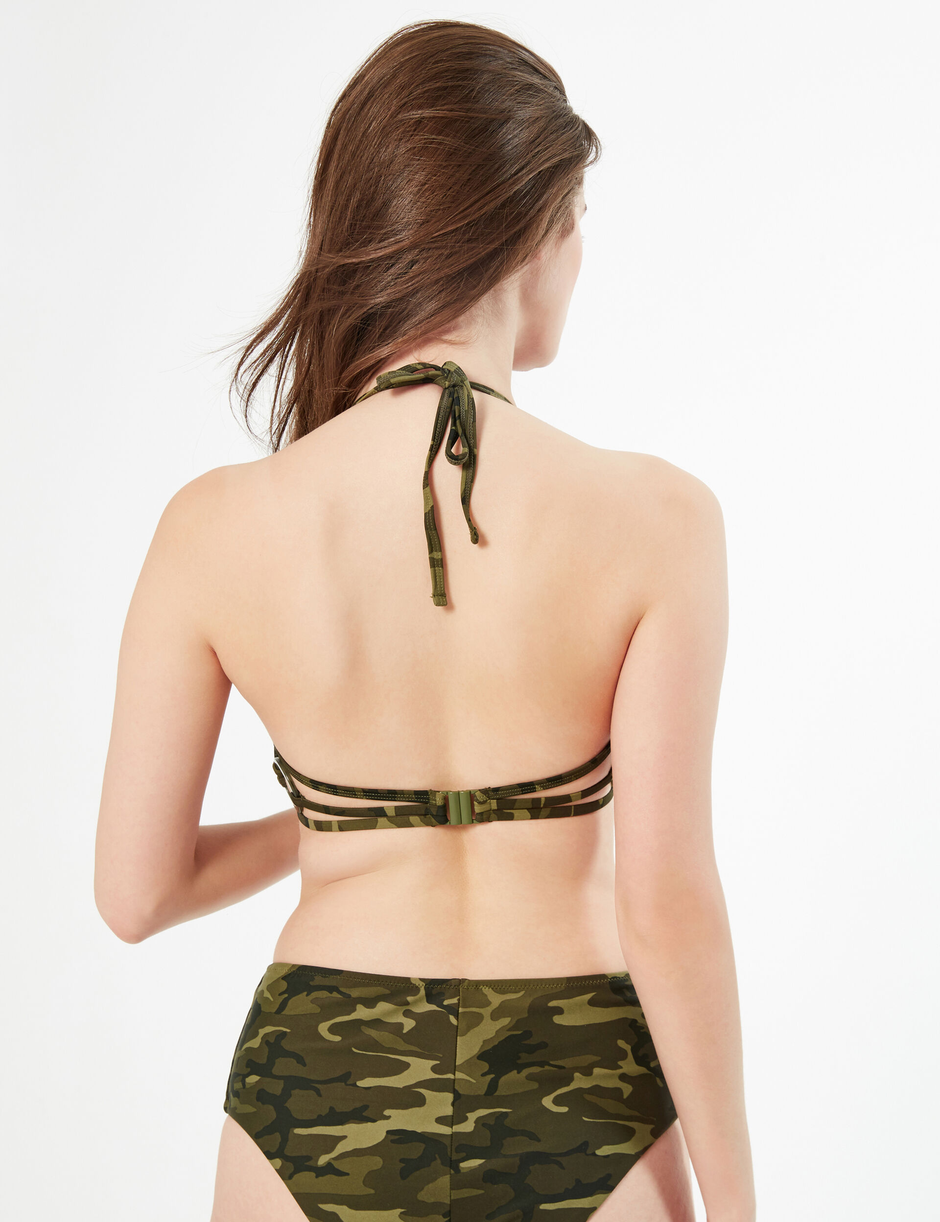 Camo push-up bikini top