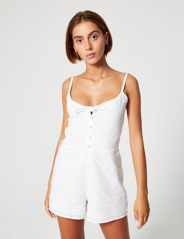 Broderie anglaise playsuit