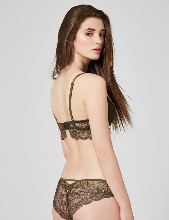 Camouflage and lace hipsters
