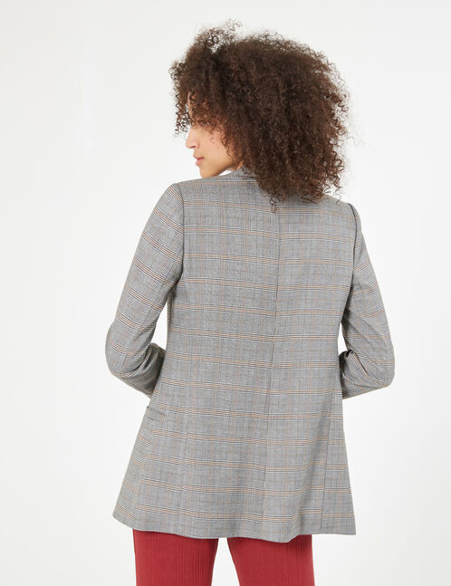 Prince of Wales black, white and brown blazer