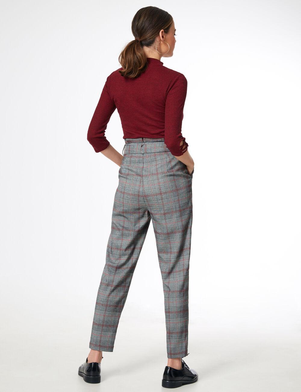 pantalon ville avec ceinture femme jennyfer. Black Bedroom Furniture Sets. Home Design Ideas